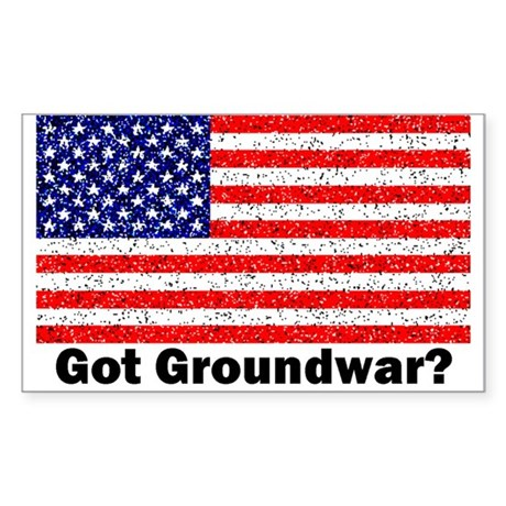 Got Groundwar? Rectangle Sticker