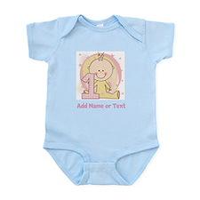 Custom Girl 1st Birthday Infant Bodysuit