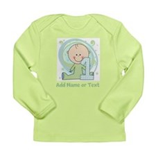 Custom Boy 1st Birthday Long Sleeve Infant T-Shirt