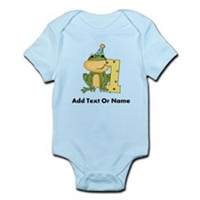 Custom Frog 1st Birthday Infant Bodysuit