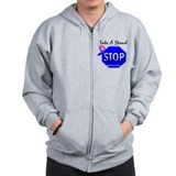 Stop Male Breast Cancer Zip Hoodie