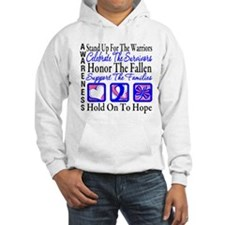 Male Breast Cancer Tribute Hoodie