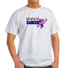 Screw Male Breast Cancer T-Shirt