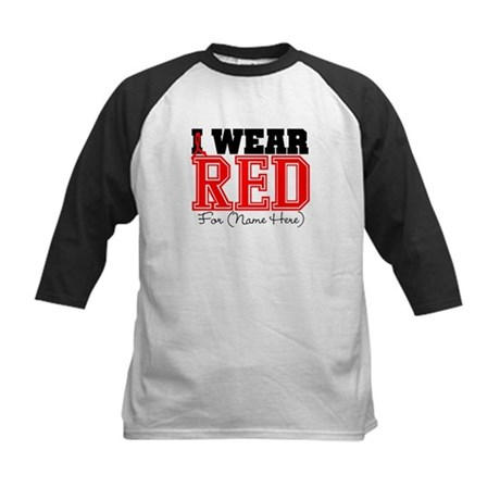 Custom I Wear Red Kids Baseball Jersey