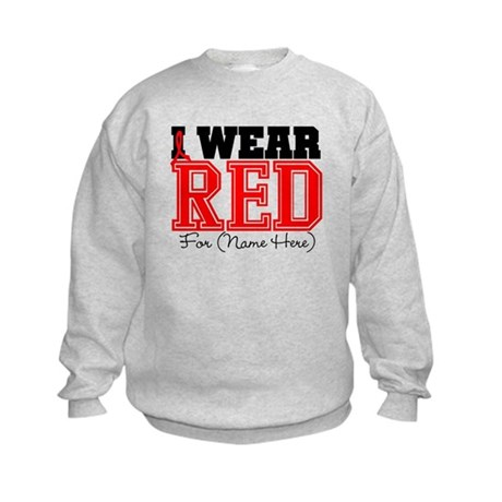 Custom I Wear Red Kids Sweatshirt