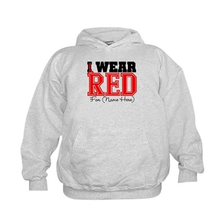 Custom I Wear Red Kids Hoodie