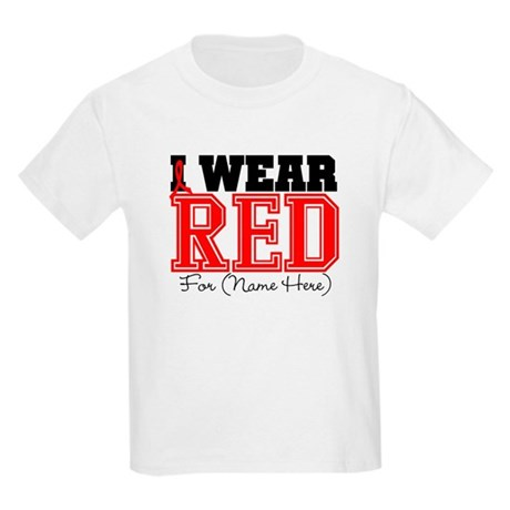 Custom I Wear Red Kids Light T-Shirt