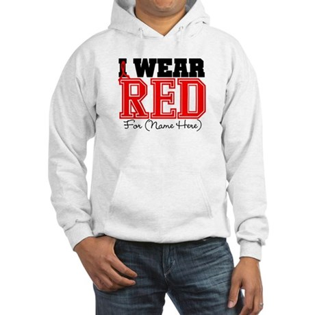 Custom I Wear Red Hooded Sweatshirt