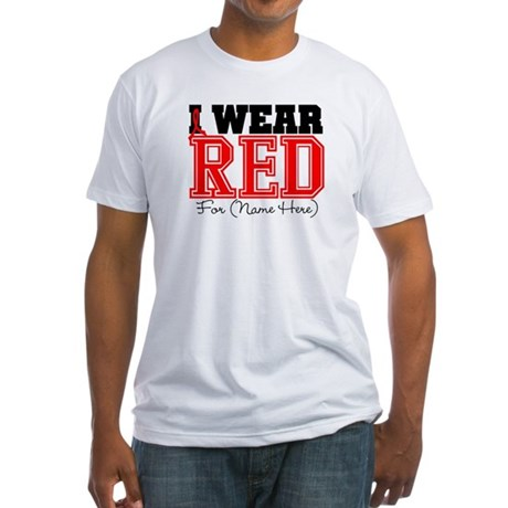 Custom I Wear Red Fitted T-Shirt