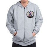 Survivor - Male Breast Cancer Zip Hoodie