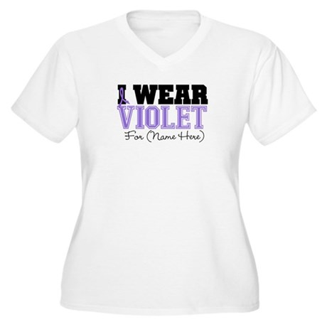 Custom Violet Hodgkins Women's Plus Size V-Neck T-