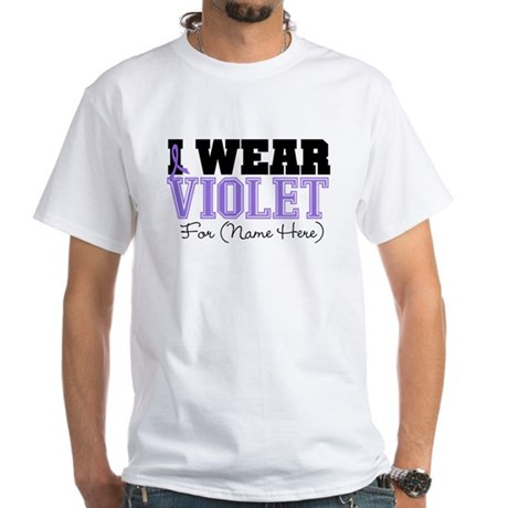 Custom Violet Hodgkins White T-Shirt