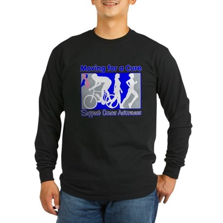 Moving MaleBreastCancer Cure Long Sleeve Dark T-Sh