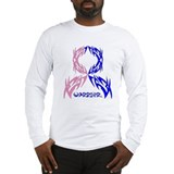 Male Breast Cancer Warrior Long Sleeve T-Shirt