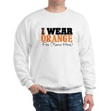 Custom I Wear Leukemia Sweatshirt