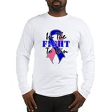 Male Breast Cancer Fight Long Sleeve T-Shirt