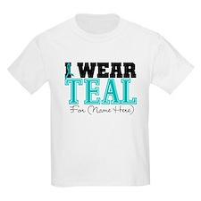Custom Teal Ovarian Cancer T-Shirt