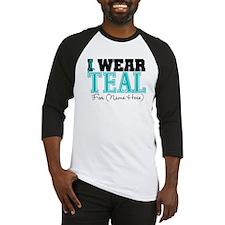 Custom Teal Ovarian Cancer Baseball Jersey
