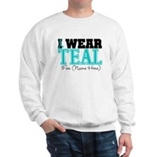 Custom Teal Ovarian Cancer Sweater