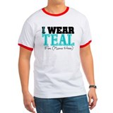 Custom Teal Ovarian Cancer Tee-Shirt