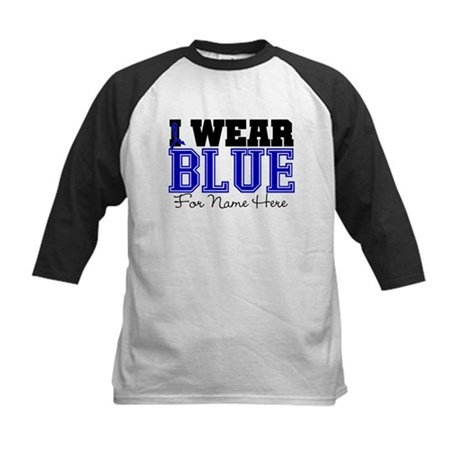Custom Colon Cancer Kids Baseball Jersey