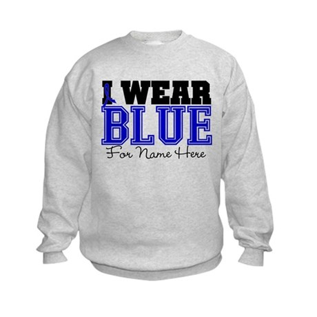 Custom Colon Cancer Kids Sweatshirt