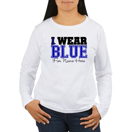 Custom Colon Cancer Women's Long Sleeve T-Shirt