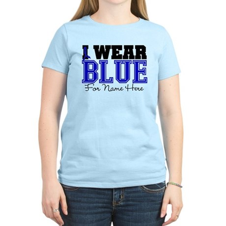 Custom Colon Cancer Women's Light T-Shirt