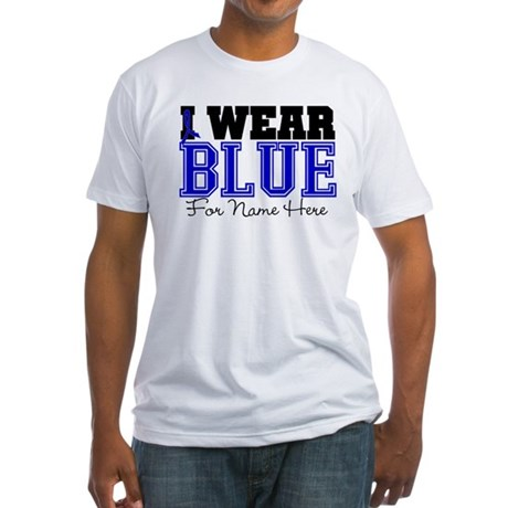 Custom Colon Cancer Fitted T-Shirt