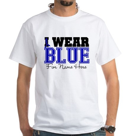 Custom Colon Cancer White T-Shirt