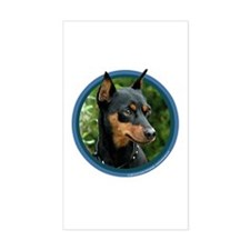 Miniature Pinscher Art Sticker (Rect)