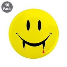 "Vampire Smiley 3.5"" Button (10 pack)"