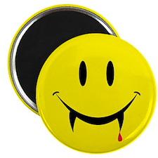 """Vampire Smiley 2.25"""" Magnet (10 pack)"""