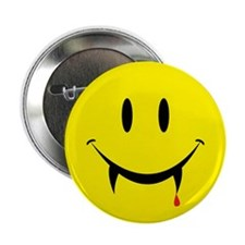 "Vampire Smiley 2.25"" Button"