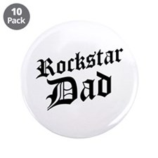 "Rockstar Dad 3.5"" Button (10 pack)"