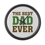 The Best Dad Ever Large Wall Clock