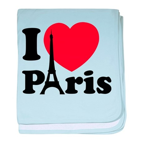 I love Paris baby blanket