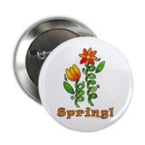 Spring Flowers Button