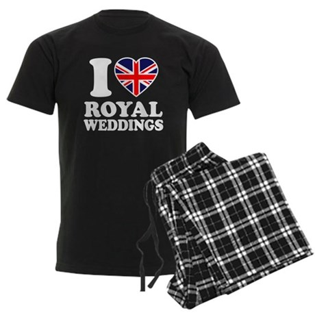 I Love Royal Weddings Men's Dark Pajamas