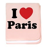 I love Paris baby blanket