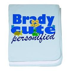 Cute Brady baby blanket