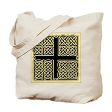 Celtic Square Cross (w/bg) Tote Bag