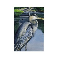 Great Blue Heron Rectangle Magnet (10 pack)