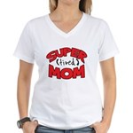 Super Tired Mom Women's V-Neck T-Shirt