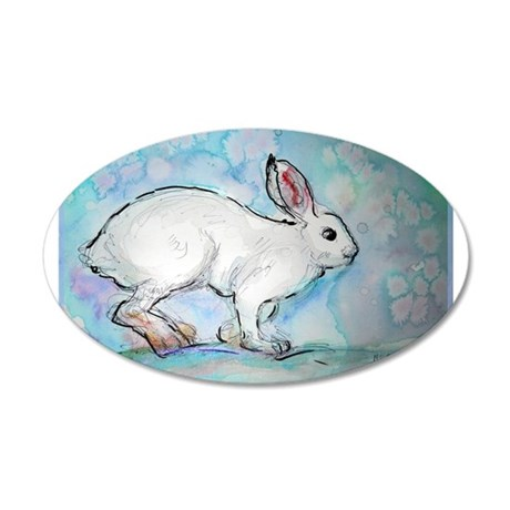 Wildlife, Art, Rabbit, 38.5 x 24.5 Oval Wall Peel