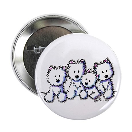 "Westie Pocket Pawsse 2.25"" Button (10 pack)"