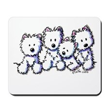 Westie Pocket Pawsse Mousepad