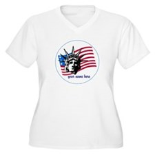 Personalized Liberty and Flag T-Shirt