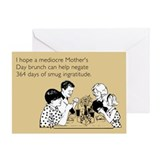 Smug Ingratitude Greeting Card
