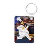 Chef on the run Aluminum Photo Keychain